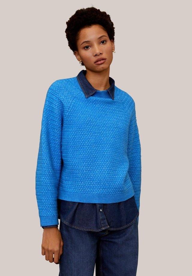 CONFORT - Stickad tröja - blue