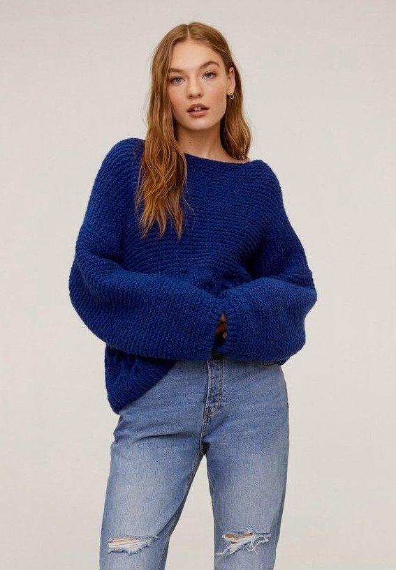Mango - BRAVA - Strickpullover - blue
