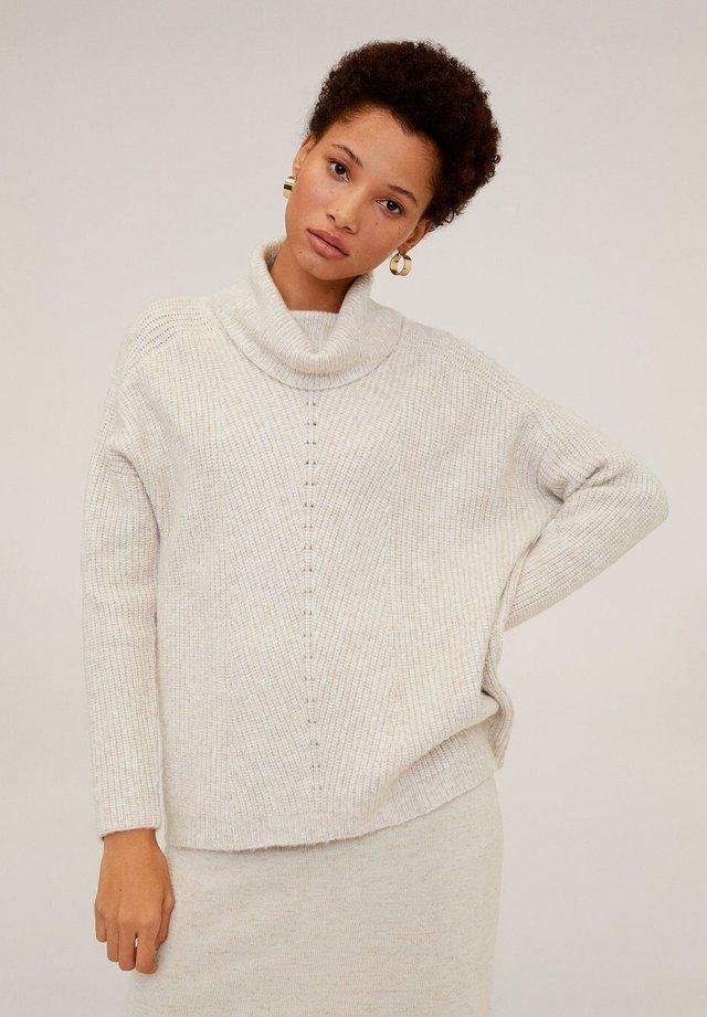 MARIO - Stickad tröja - light grey/pastel grey