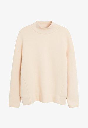 SWEATSHIRT MIT PERKINSKRAGEN - Sweatshirt - sandfarben
