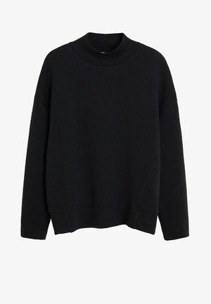SWEATSHIRT MIT PERKINSKRAGEN - Sweatshirt - schwarz