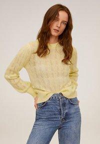 Mango - ROCIO - Sweter - pastel yellow - 0