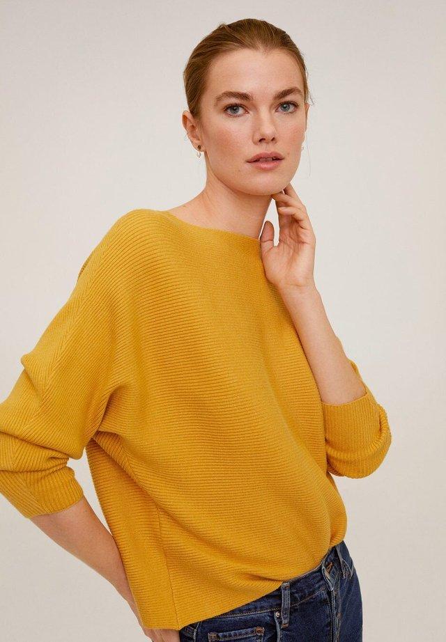 VANESA - Stickad tröja - senfgelb