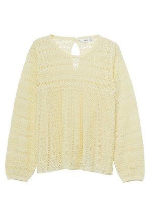 MARIE - Sweter - jaune pastel