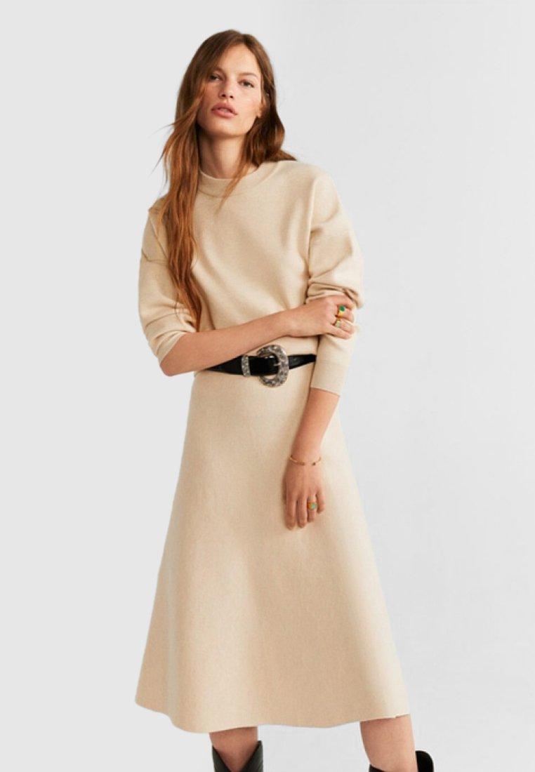 Mango - FLER - Stickad tröja - beige