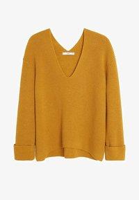 Mango - FOLD - Jumper - mustard yellow - 3