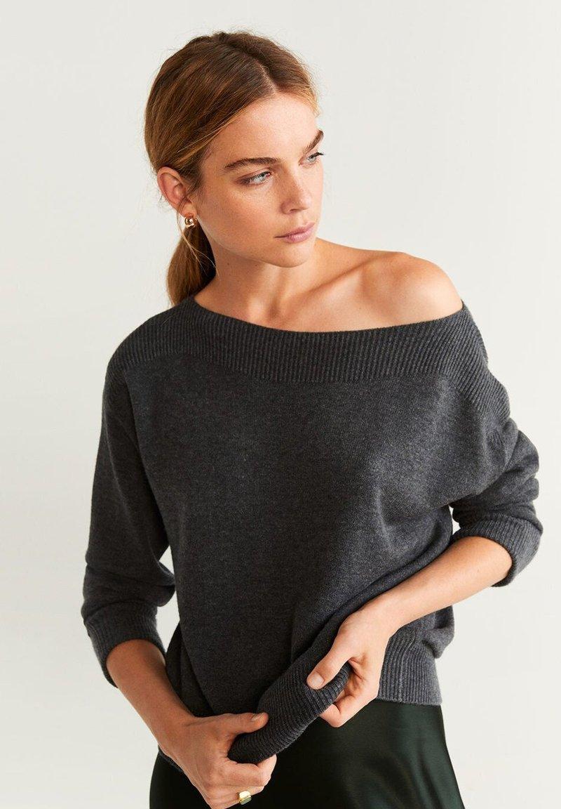 Mango - COUSIN - Pullover - mottled  dark gray
