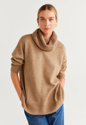 POLAR - Strickpullover - medium brown