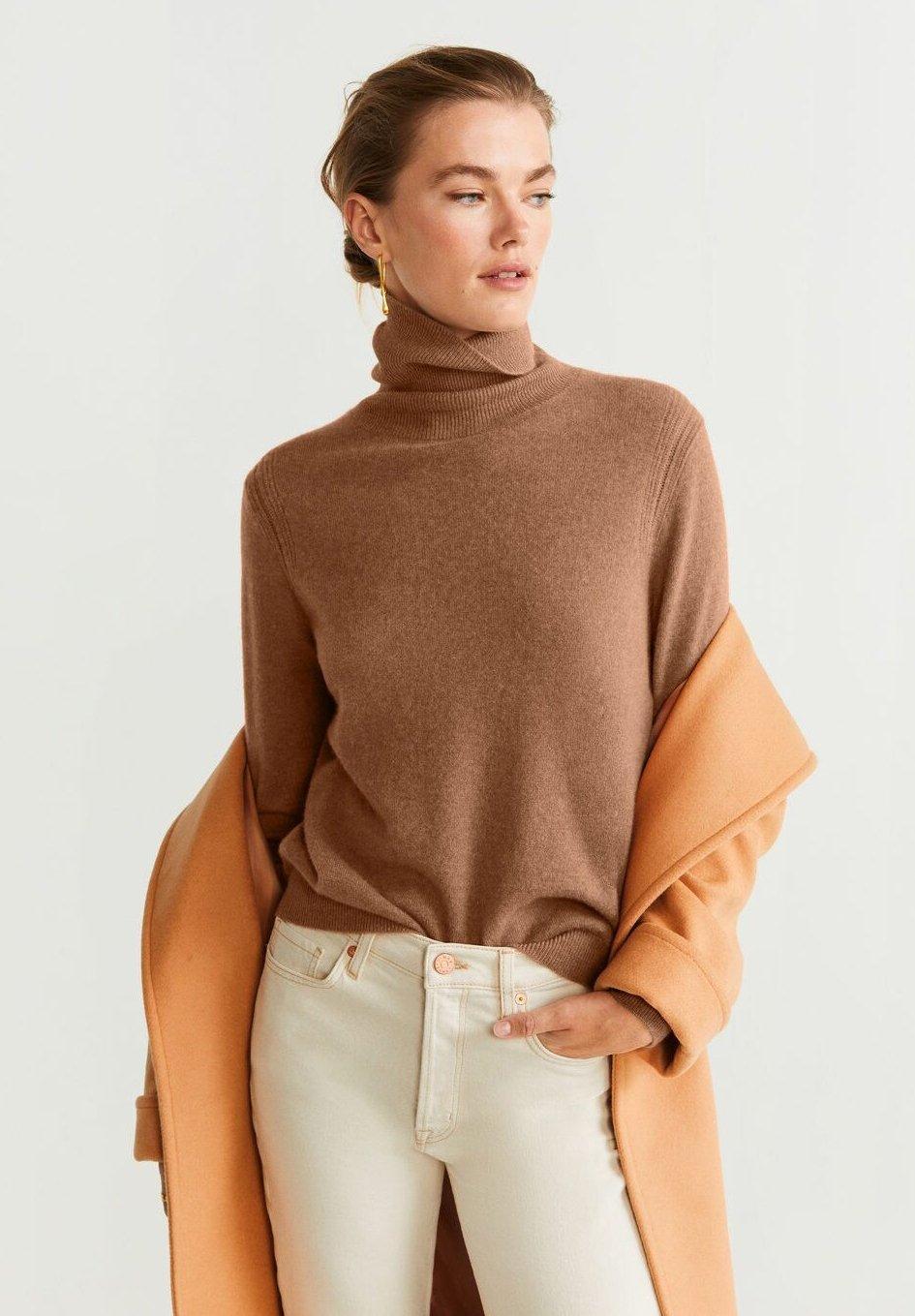 Mango BAHIAC - Sweter - karamell