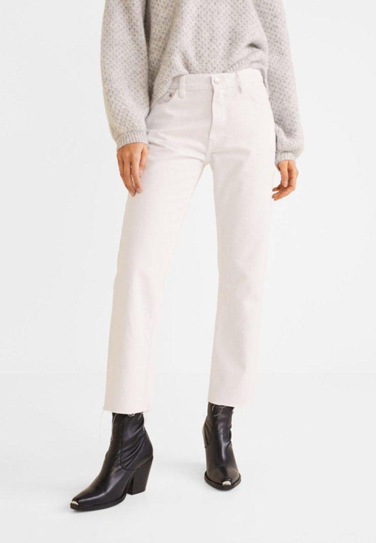Mango - SAYANA - Jeansy Straight Leg - white