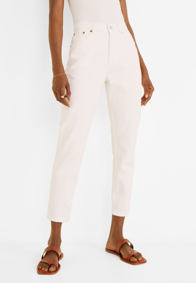 Mango - MOM - Slim fit jeans - white