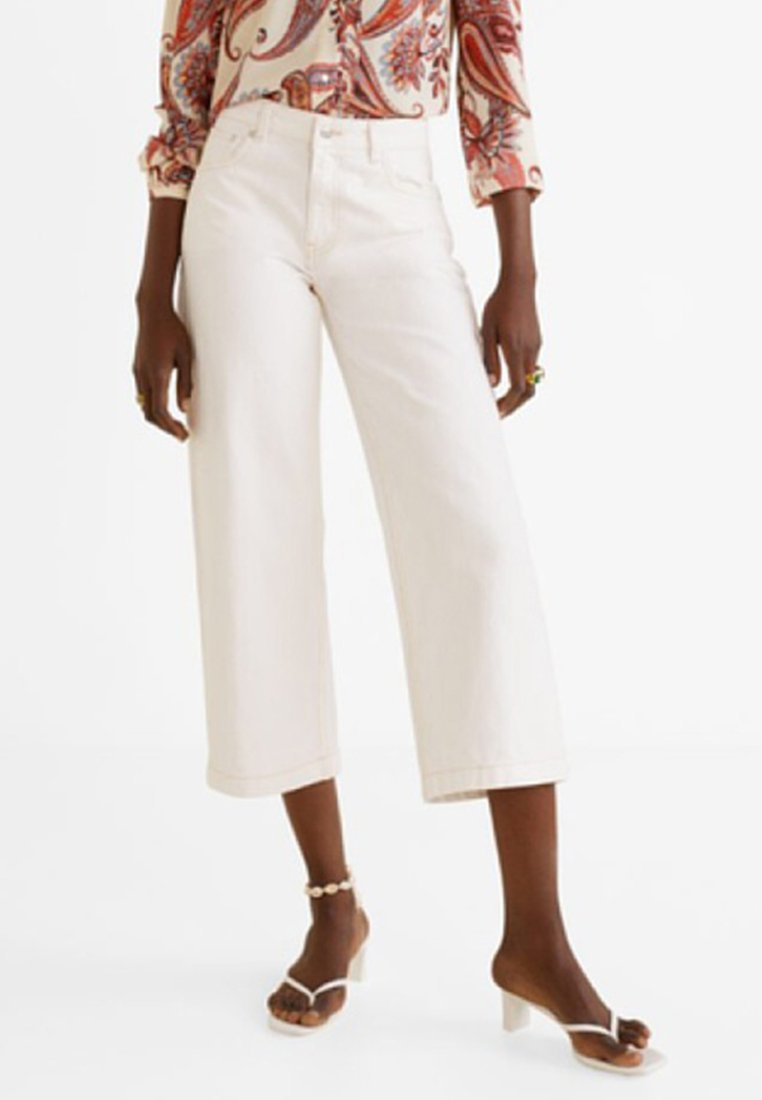 Mango - CULOTTE - Jeans Relaxed Fit - off white