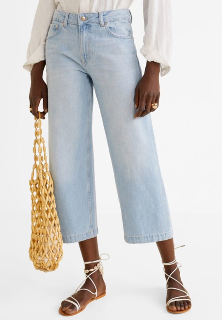 Mango - CULOTTE - Jeans Relaxed Fit - light blue
