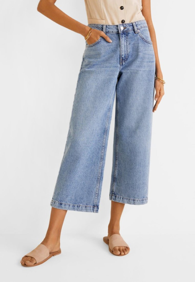 Mango - CULOTTE - Jeans Relaxed Fit - medium blue