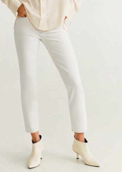 Mango - GRACE - Jeans Slim Fit - beige