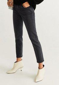 Mango - GRACE - Slim fit jeans - open gray - 1