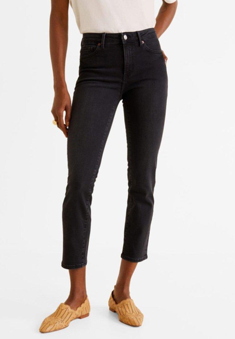 Mango - GRACE - Jeans Slim Fit - black denim