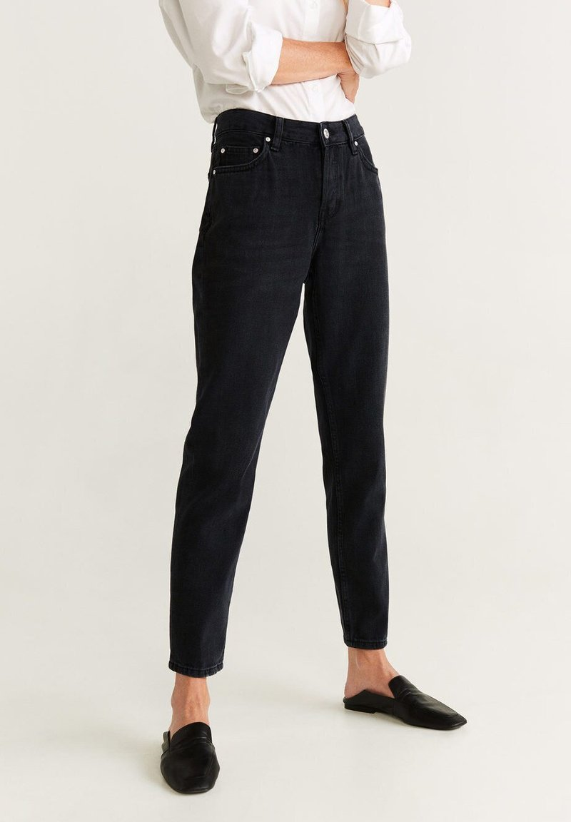 Mango - RELAX - Jeans baggy - black denim