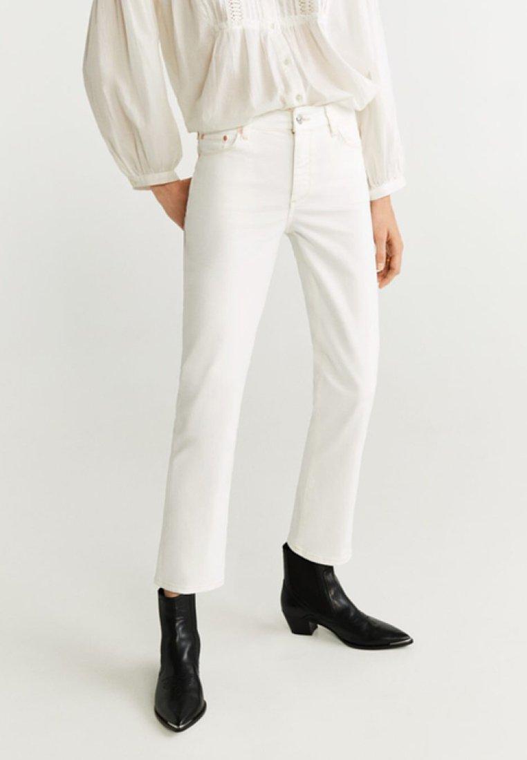 Mango - STRAIGHT - Straight leg jeans - off-white
