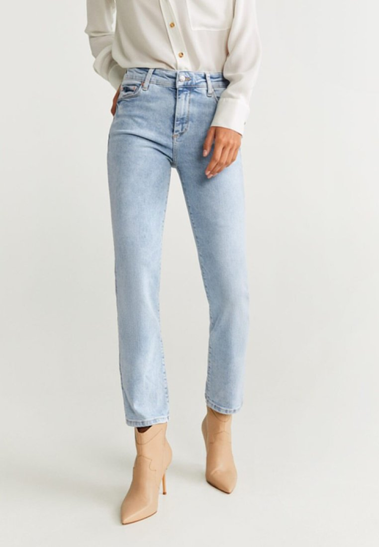 Mango - STRAIGHT - Straight leg jeans - light blue