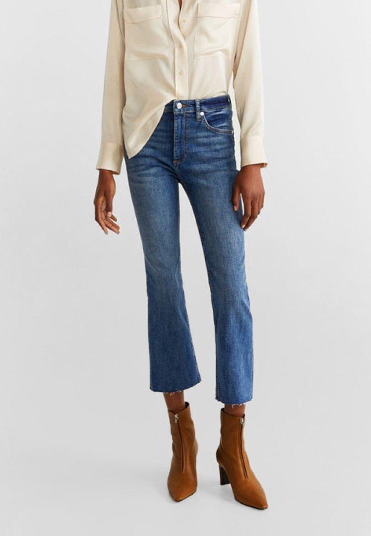 Mango - BOOTCROP - Flared Jeans - dark blue