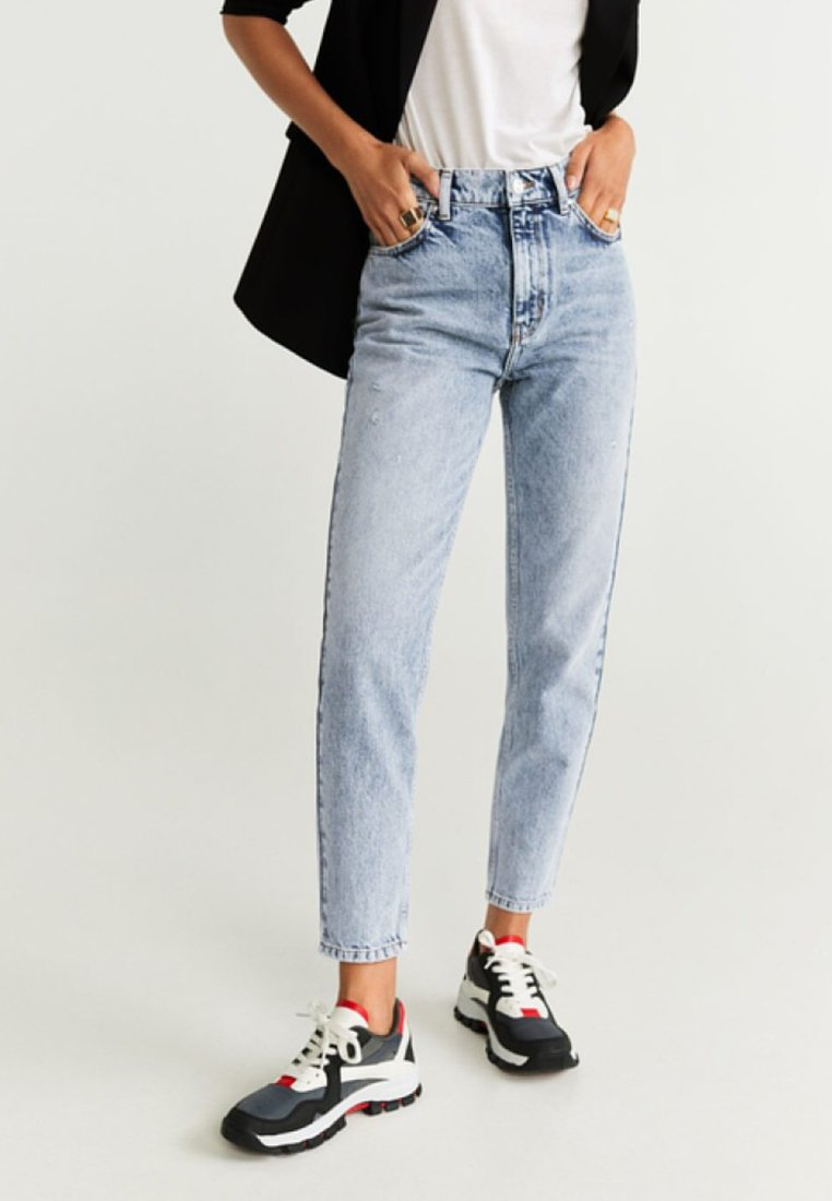 Mango - MOM - Straight leg jeans - blue