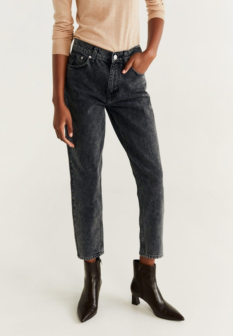 Mango - MOM - Straight leg jeans - black