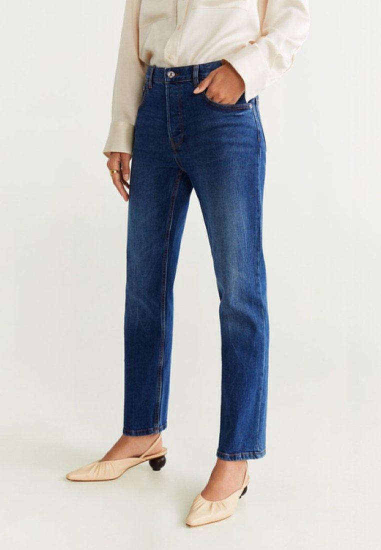 Mango - AUGUST - Jeans Straight Leg - dark blue