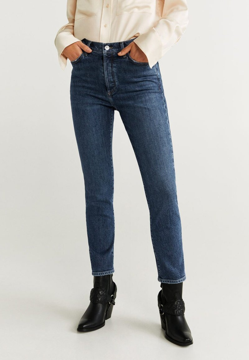 Mango - GISELE - Slim fit jeans - dark blue