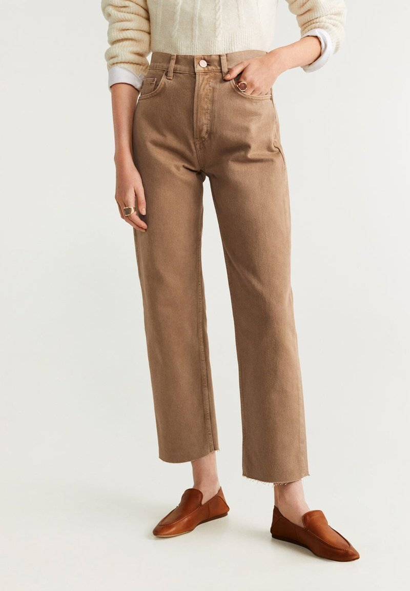 Mango - MARIONA - Straight leg jeans - sand