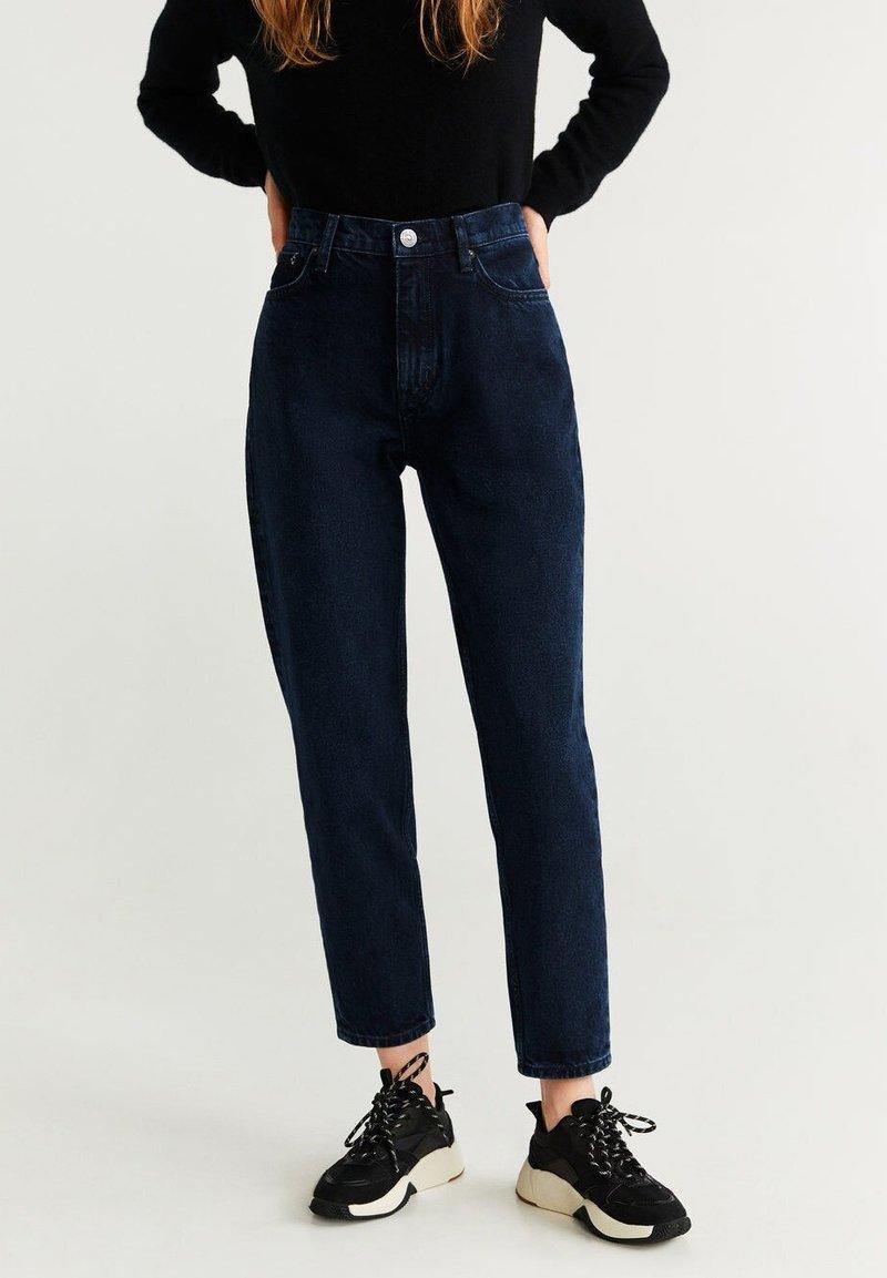 Mango - MOM - Jeansy Straight Leg - dark blue