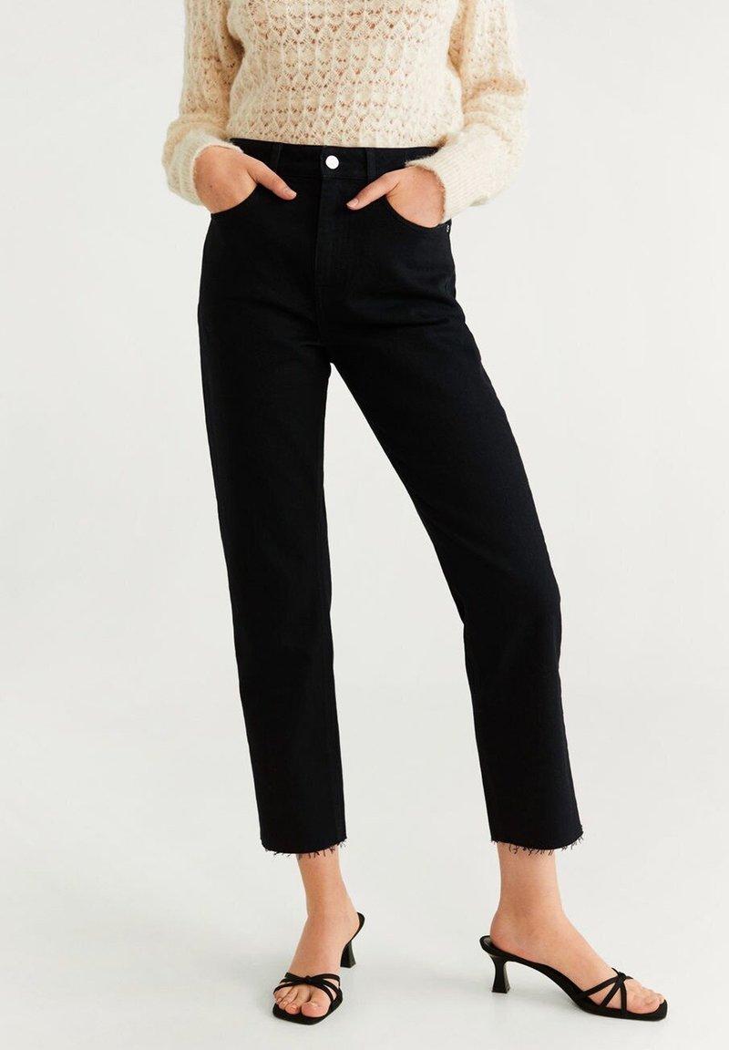 Mango - CELIA - Straight leg jeans - black denim