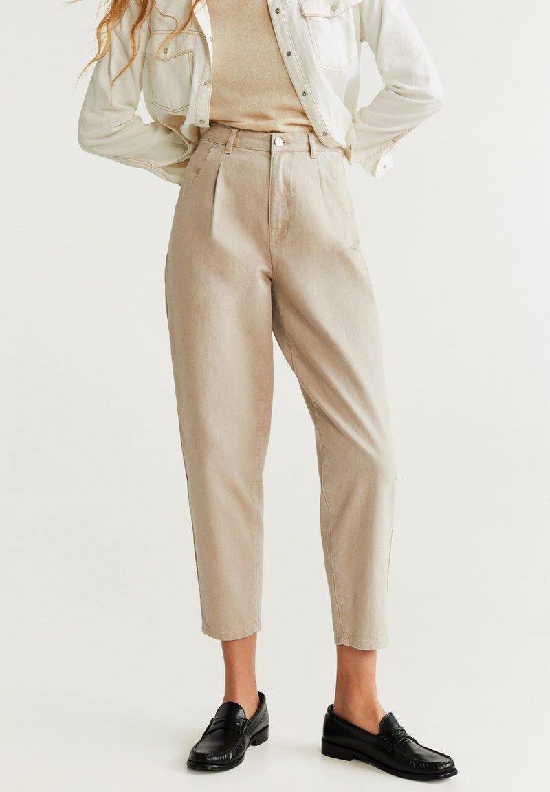 Mango - REGINA - Straight leg jeans - beige