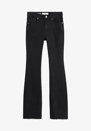 FLARE - Jeansy Dzwony - black denim