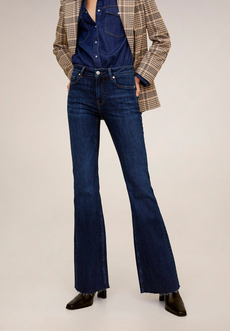 Mango - FLARE - Flared Jeans - dark blue