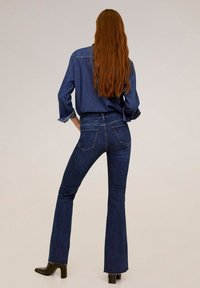 Mango - FLARE - Flared Jeans - dark blue - 2