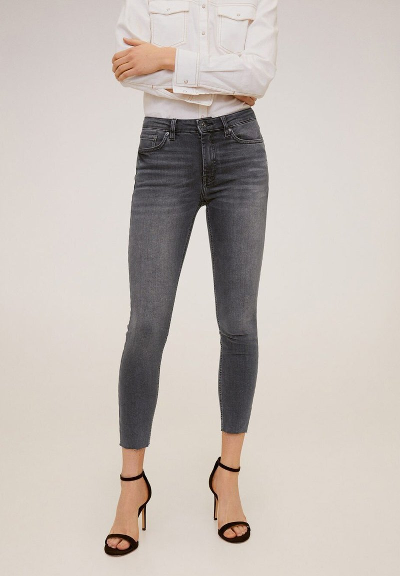 Mango - ISA - Jeans Skinny Fit - open grey