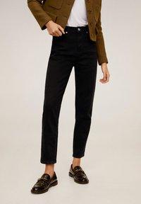 Mango - MOM - Jeans slim fit - black denim - 0