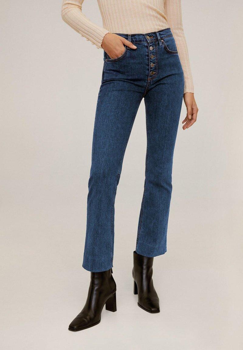 Mango - BOOTCUT - Flared jeans - dark blue