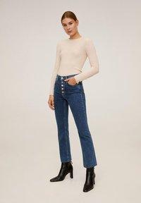 Mango - BOOTCUT - Flared jeans - dark blue - 1