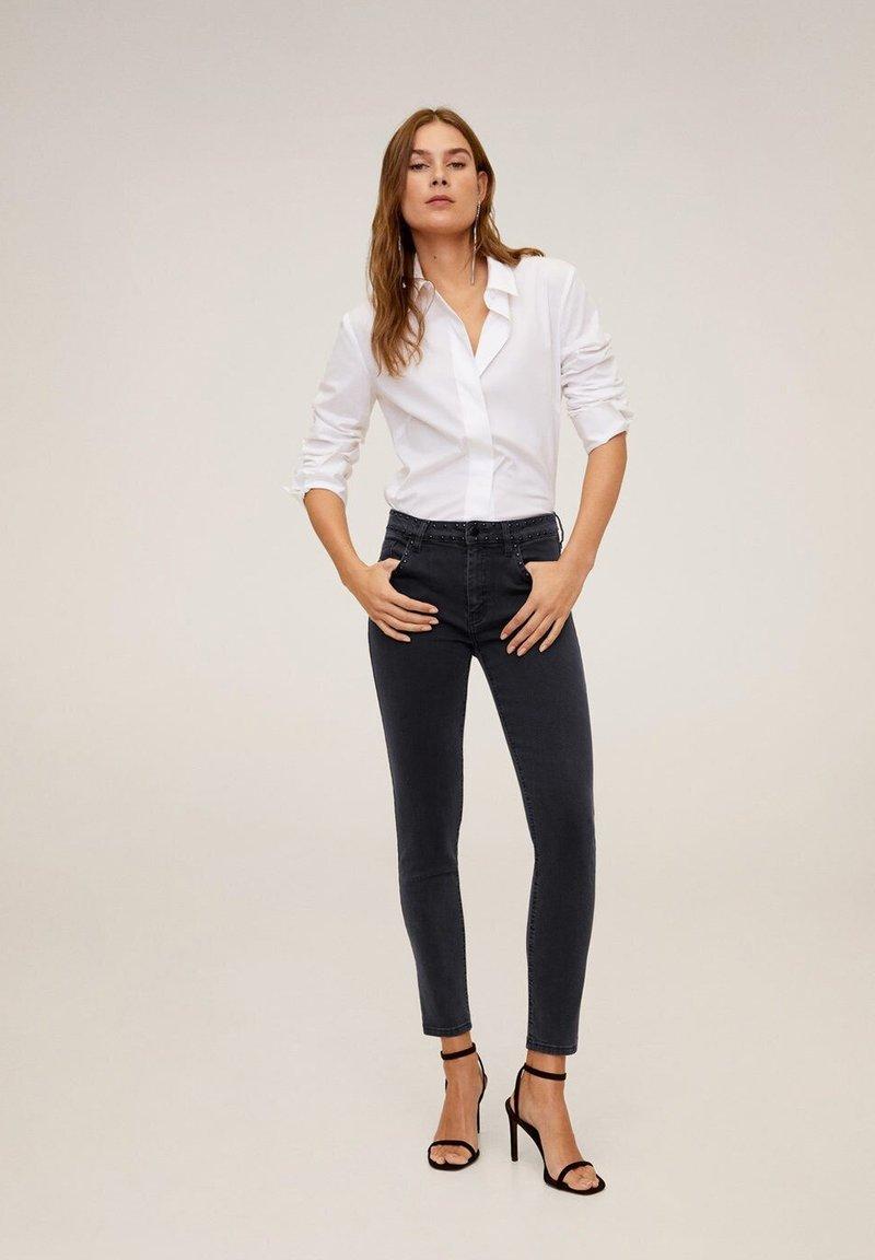 Mango - STUDS - Jeans Skinny Fit - black denim