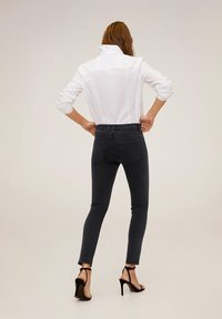 Mango - STUDS - Jeans Skinny Fit - black denim - 2