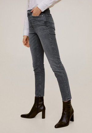 GISELE - Slim fit jeans - open grey