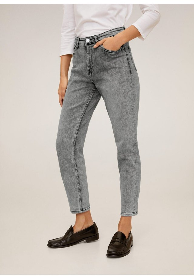 MOM - Jeansy Slim Fit - open grey
