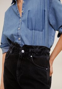 Mango - SLOUCHY - Jeansy Relaxed Fit - black denim - 5