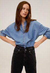Mango - SLOUCHY - Jeansy Relaxed Fit - black denim - 3