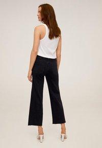 Mango - AUDREY - Flared Jeans - black denim - 2