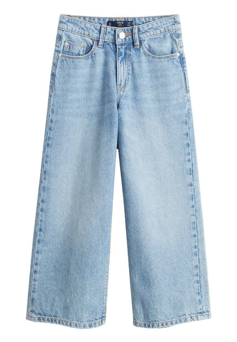 Mango - CULOTTES I DENIM - Relaxed fit jeans - hellblau