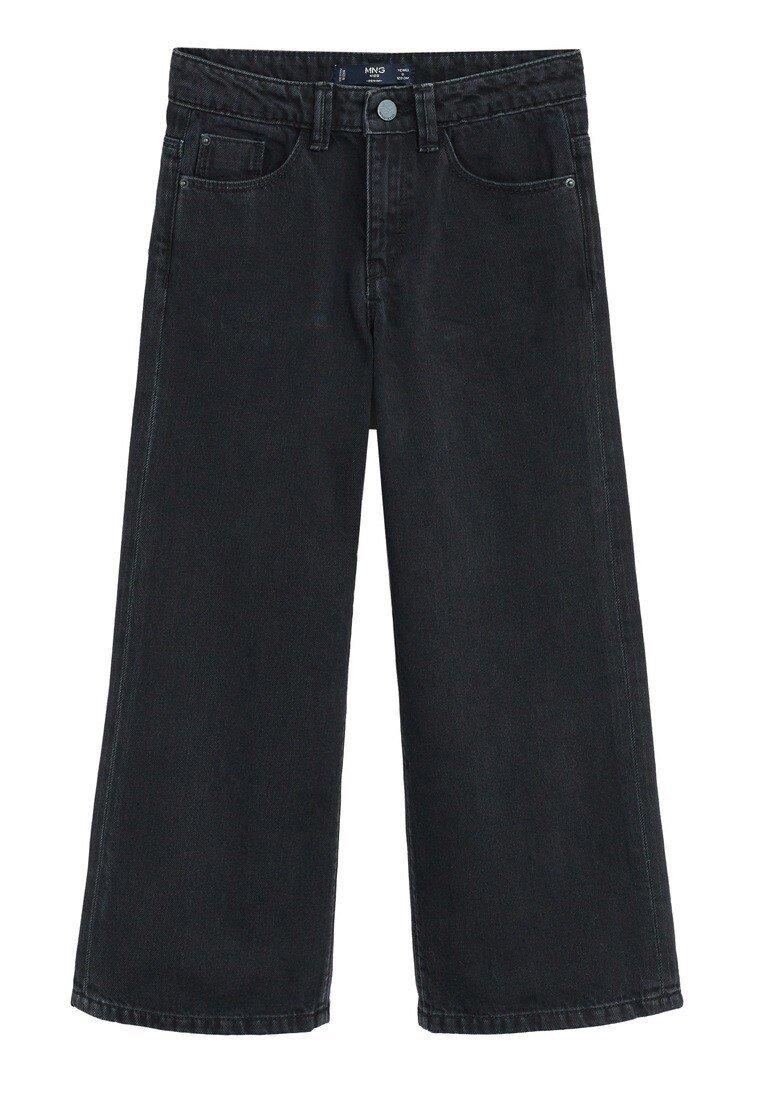Mango - CULOTTES I DENIM - Jeans Relaxed Fit - sort denim