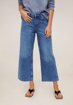 CULOTTE JEANS - Jeans a zampa - donkerblauw